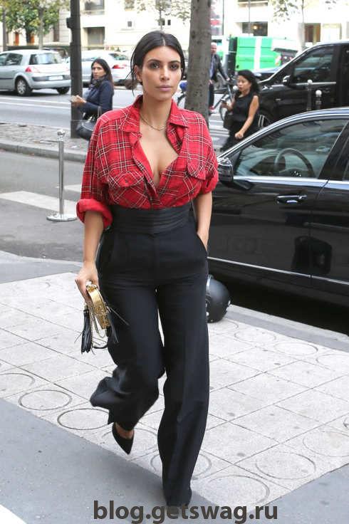 113 Уличный стиль Ким Кардашьян фото или одежда строго по фигуре!