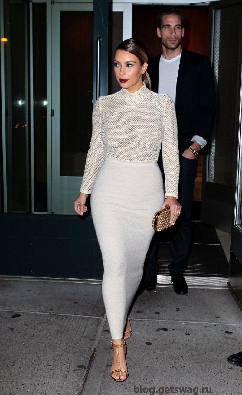 163 Уличный стиль Ким Кардашьян фото или одежда строго по фигуре!