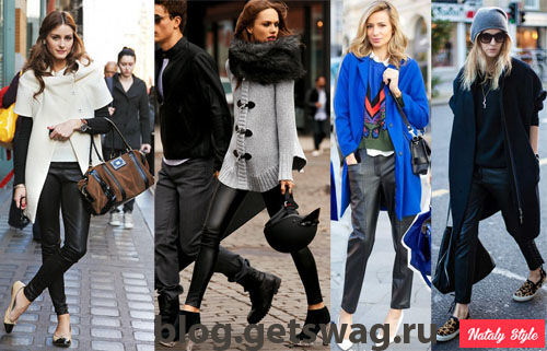 1olivia-leather-pants Ломаем стереотипы. С чем носить кожаные брюки и при этом не выглядеть брутально