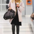 Jessica Alba with daughter Honor Warren arrive at JFK airport in NYC.