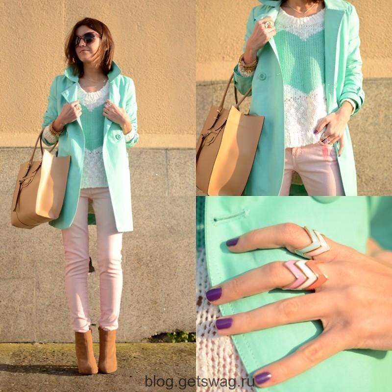 Mix-Match-Pastel-Color-Fashion-style Цвета грядущего лета в образах уличных модниц