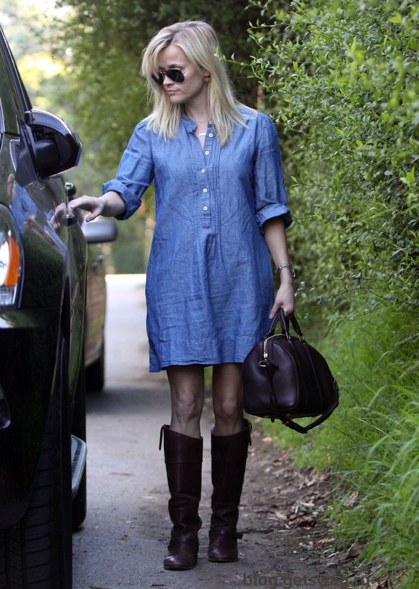 Reese-Witherspoon-Looking-Hot-In-Brentwood-06 Деним без компромиссов