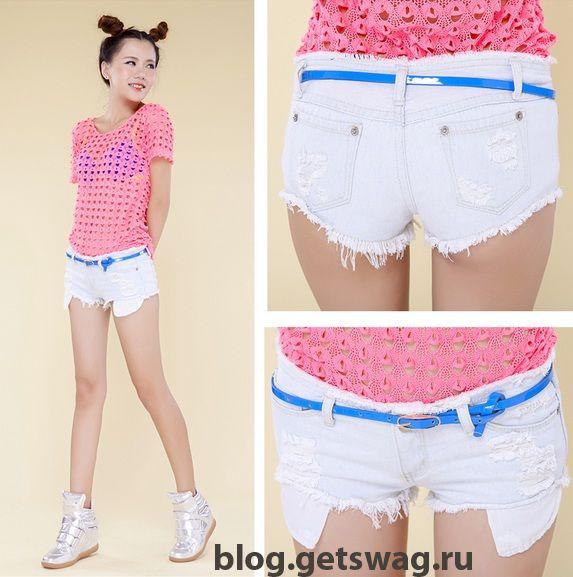 belye-dzhinsovye-shorty-foto-1 Джинсовые шорты: с чем комбинировать?