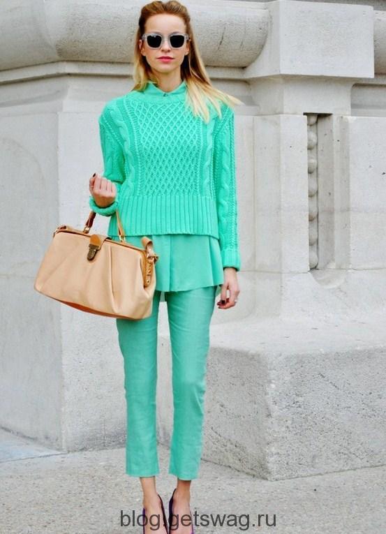 myatnyy_cvet_v_odezhde_2013_9 Цвета грядущего лета в образах уличных модниц